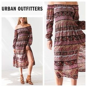 Urban Outfitters Smocked 90's style Maxi Dress